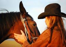 Uomo e cavallo Fotografie Stock Libere da Diritti