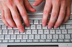 Uomo e computer-4 immagini stock libere da diritti