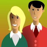Uomo e donna Fotografia Stock