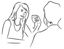 Uomo e donna al pranzo Immagine Stock Libera da Diritti