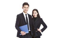 Uomo e donna asiatici di affari Fotografia Stock
