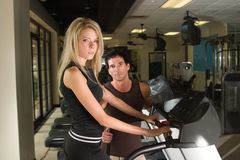 Uomo e donna che esercitano 4 Fotografia Stock