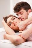 Uomo e donna che si amano Immagine Stock