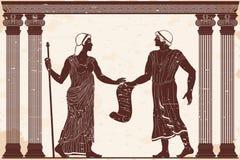 Uomo e donna del greco antico illustrazione di stock