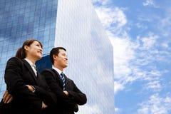 Uomo e donna di affari Immagini Stock