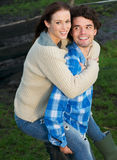 Uomo e donna felici insieme Fotografia Stock Libera da Diritti