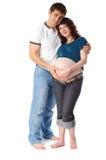 Uomo e donna incinta Immagine Stock Libera da Diritti