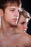 Uomo e donna nell'amore Immagine Stock
