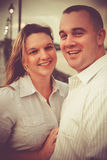 Uomo e donna sorridenti felici immagine stock libera da diritti
