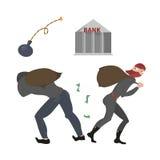 Uomo e donna vestiti una banca Fotografie Stock Libere da Diritti