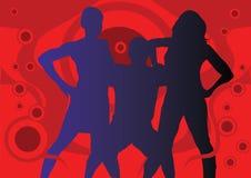 Uomo e due ragazze royalty illustrazione gratis