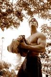 Uomo e la grande aria aperta 2 fotografie stock