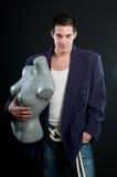 Uomo e mannequin Fotografia Stock Libera da Diritti