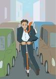 Uomo e motorino illustrazione vettoriale