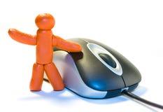 Uomo e mouse del Plasticine Fotografie Stock Libere da Diritti