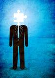 Uomo e puzzle Fotografia Stock