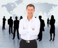 Uomo e squadra di affari Fotografia Stock