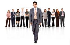 Uomo e squadra di affari Immagini Stock Libere da Diritti
