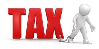 Uomo e tassa (percorso di ritaglio incluso) Fotografia Stock Libera da Diritti