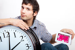 Uomo e tempo Fotografia Stock
