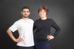 Uomo e una donna Fotografia Stock Libera da Diritti