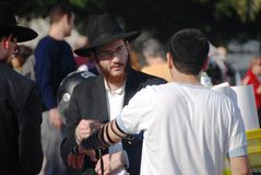 Uomo ebreo religioso a Gerusalemme Immagini Stock Libere da Diritti