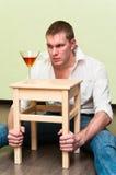 Uomo ed alcool Fotografia Stock