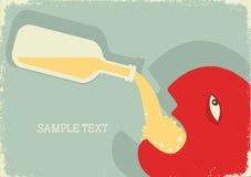 Uomo ed alcool illustrazione vettoriale