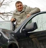Uomo ed automobile Immagini Stock Libere da Diritti