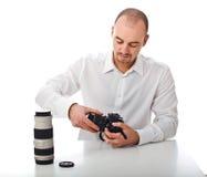 Uomo ed hobby Fotografie Stock