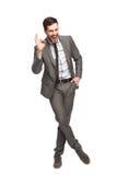 Uomo elegante che mostra okay Fotografia Stock Libera da Diritti