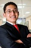 Uomo elegante e sorridente di affari Fotografia Stock Libera da Diritti
