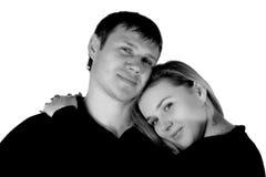 Uomo Enamoured e la donna. fotografia stock libera da diritti