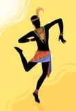 Uomo etnico dell'Africano di ballo Fotografie Stock Libere da Diritti