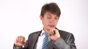 Uomo faticoso e sonnolento Gesto archivi video