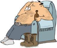 Uomo faticoso in presidenza Immagini Stock