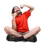 Uomo felice Fotografie Stock Libere da Diritti
