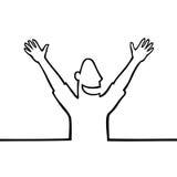 Uomo felice con le mani nell'aria Fotografie Stock