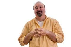 Uomo felice con un'espressione compiacente Immagine Stock