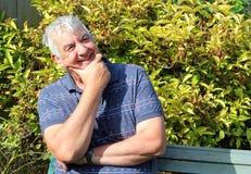 Uomo felice degli anziani di espressione facciale. Immagini Stock Libere da Diritti