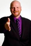 Uomo felice di affari Fotografia Stock Libera da Diritti