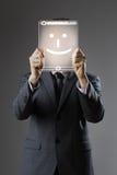 Uomo felice di affari Immagini Stock Libere da Diritti