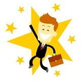Uomo felice di affari di successo Fotografia Stock