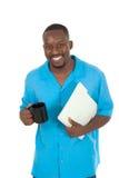 Uomo felice di affari sulla rottura 1 Immagini Stock
