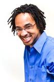 Uomo felice di risata Fotografia Stock Libera da Diritti