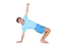 Uomo felice di yoga Immagini Stock Libere da Diritti