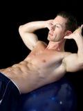 Uomo fisicamente misura Fotografie Stock Libere da Diritti