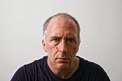 Uomo fissante Fotografia Stock Libera da Diritti