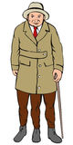 Uomo fornito di gambe tre royalty illustrazione gratis