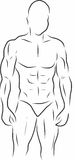 Uomo forte di forma fisica immagini stock
